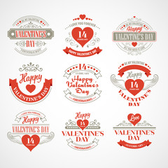Typography Valentine's DayVector illustration