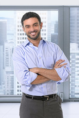 young attractive business man corporate portrait