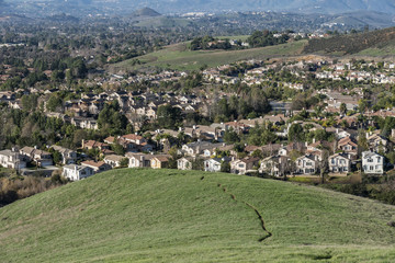 Suburban Hills, Homes, Meadows and Trails