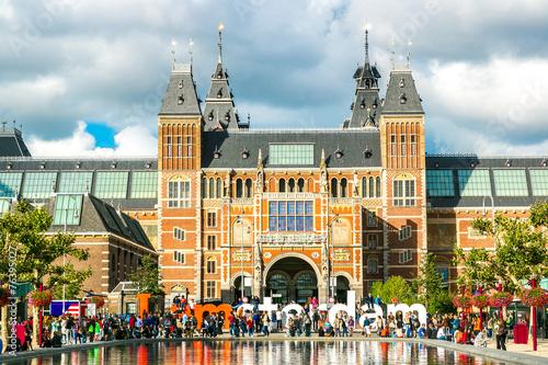 Fotobehang Amsterdam Rijksmuseum Amsterdam museum