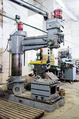 Machine for metal in the metallurgical shop