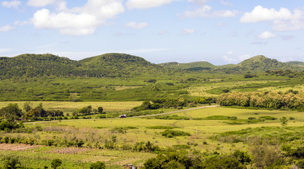 Aerial View of the Beautiful Cuban Countryside