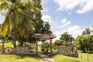 Entrance to tourist farm in Cuba