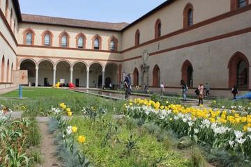 Courtyard of Milan Sforza Castle