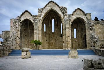 Gothic  medieval church of Rhodes citadel