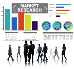 Market Research Business Percentage Research Strategy Concept