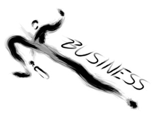 Businessman way of success. Calligraphy Arts Design Series.