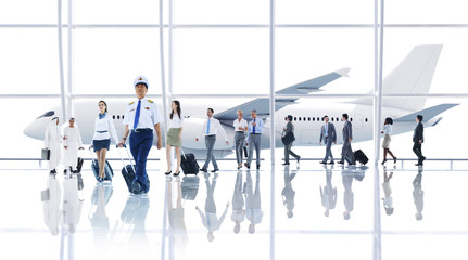 Travel Business People Cabin Crew Transportation Concept