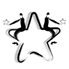 Businessman and Star. Calligraphy Arts Design Series.