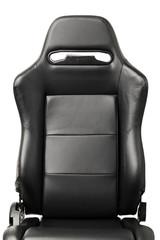 racing simulator seat back, closeup view