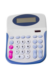 Calculator with big buttons isolated on white background