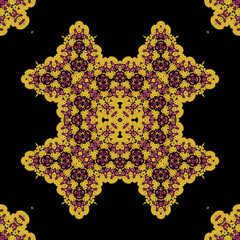 Ornate mandala. Seamless geometric pattern design