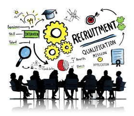 Ethnicity Business People Recruitment Meeting Discussion Concept
