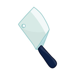 cleaver knife isolated illustration