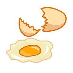 Broken egg isolated illustration