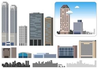 街の建物イラスト