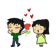 Couples of lover feeling love