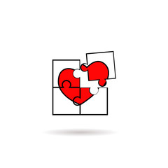 Jigsaw with heart