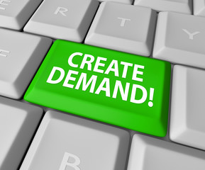 Create Demand Computer Keyboard Online Business Build Customer B