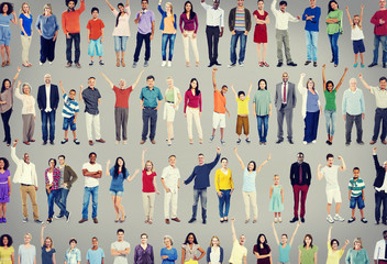 Multiethnic Casual People Togetherness Celebration Concept