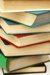 Pile of books, macro view