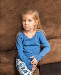Solemn little girl