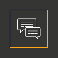 Simple pixel icon dialog messages. Vector design