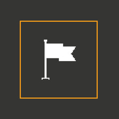 Simple stylish pixel icon flag. Vector design