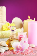 Spa treatments with orchid flower