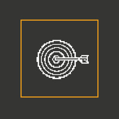 Simple stylish pixel icon darts. Vector design