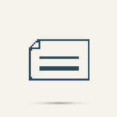 Simple pixel icon dialog messages. Vector design