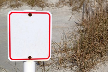 beach sign with copy space for your message