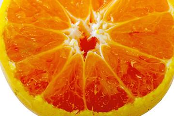closeup Fresh juicy orange