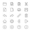 Application toolbar thin icons