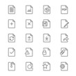 Document thin icons - 76404074