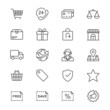 E-commerce thin icons - 76404080