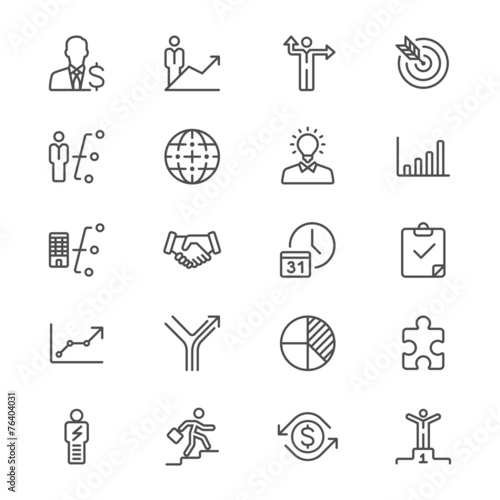 Business thin icons - 76404031