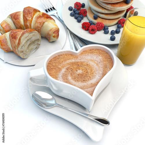 Papiers peints Buffet, Bar Romantic breakfast