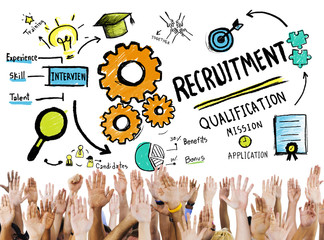Diversity Hands Recruitment Search Opportunity Concept