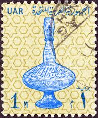14th century glass vase (Egypt 1964)
