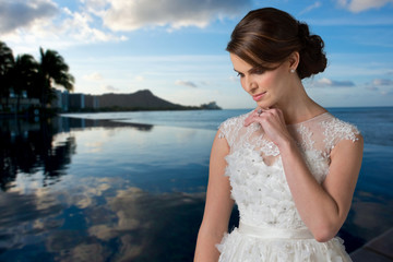 Young Bride Reflecting .