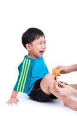 Portrait of a little asian boy (thai) crying
