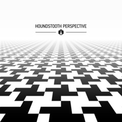 Houndstooth pattern in perspective