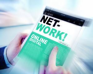 Digital Online News Headline Network Concept