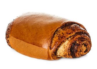 Roll, pie with poppy seeds