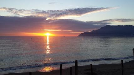 tramonto in costiera