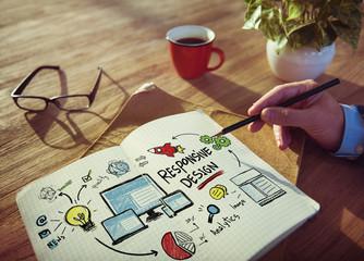 Responsive Design Internet Web Working Brainstorming Learning