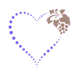 heart of dots on Valentine's day, elements for design