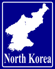 silhouette map of North Korea