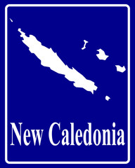 silhouette map of New Caledonia